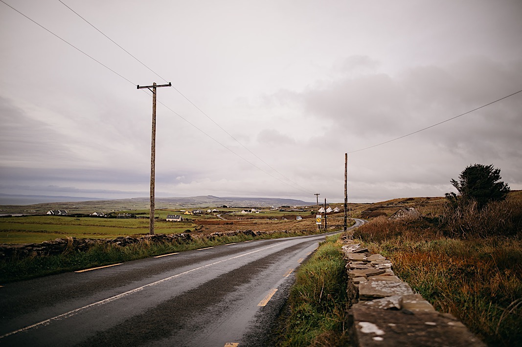 Abandoned road outside the Moher Cliffs