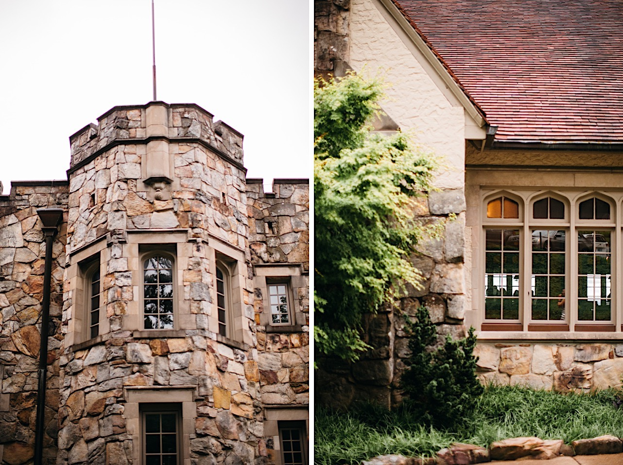 stone exterior of The Fairyland Club at Lookout Mountain Club near Chattanooga Tennessee