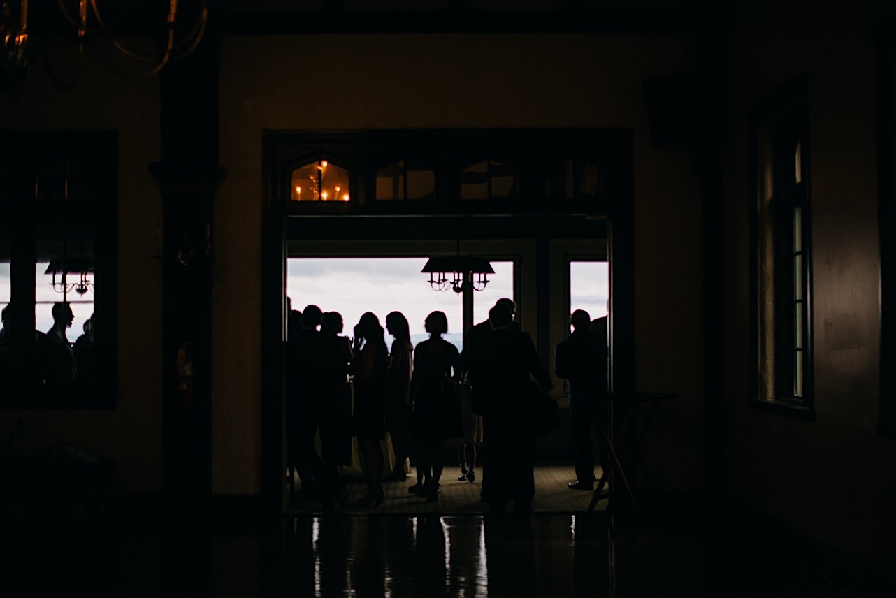 backlit silhouettes against wide windows at Fairyland Club at Lookout Mountain Club