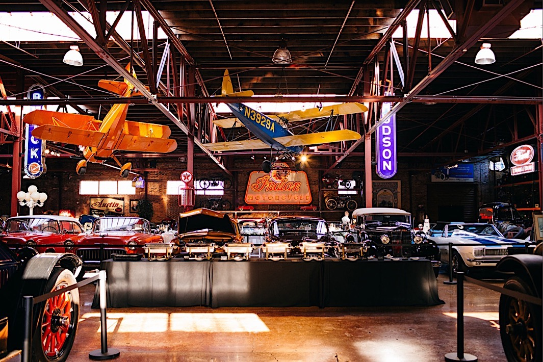 vintage cars and airplanes in The Coker Museum in downtown Chattanooga Tennessee