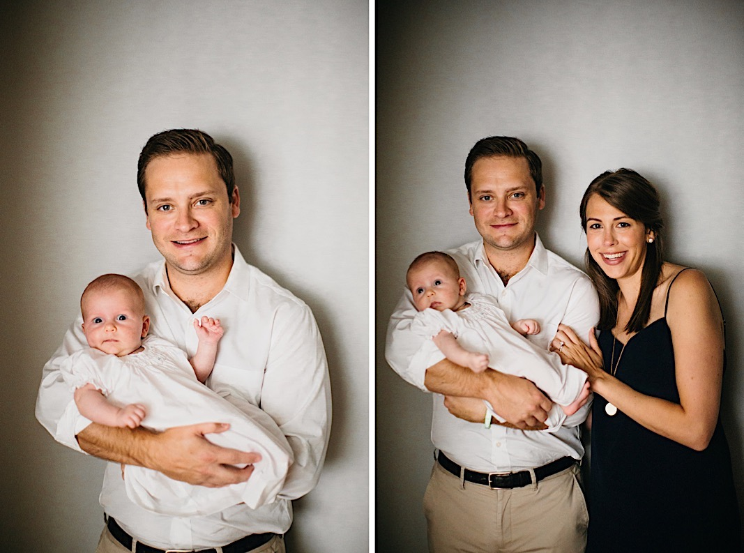 Chattanooga family portrait with husband, wife, and newborn baby