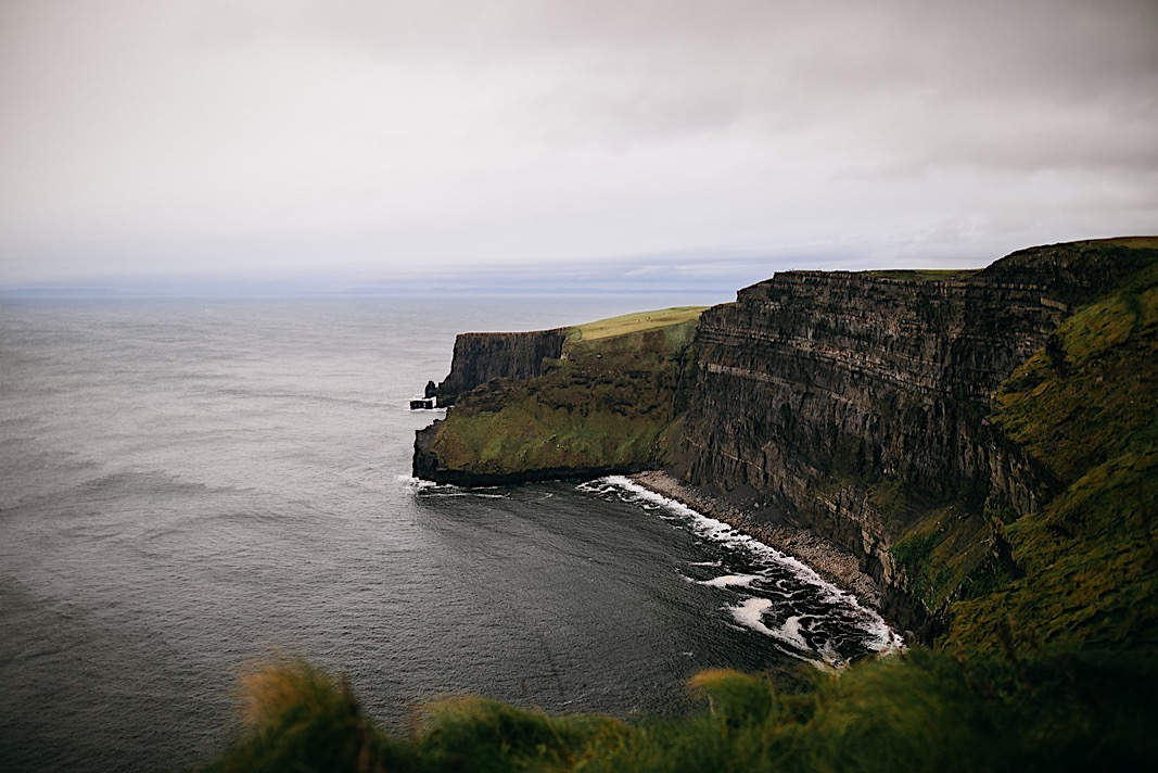 Cliffside view of the Moher Cliffs