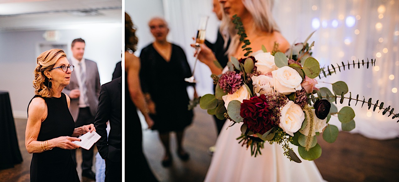 bride and groom laugh together at their halloween elopement